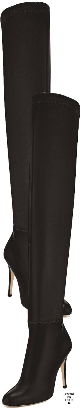 3c90e770584 Jimmy Choo Toni Black Calf Leather and Stretch Nappa Over the Knee Boots   jimmychoo