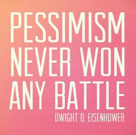 be an optimist!