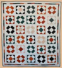 """Glass Onion Fat Quarter Heirloom Quilt Pattern by Abbey Lane Quilts at KayeWood.com. GLASS ONION is the perfect combination of traditional fabrics and a modern design. It only takes 9 fat quarters and a solid fabric to make this beautiful heirloom piece. 68"""" x 80"""" http://www.kayewood.com/item/Glass_Onion_Quilt_Pattern/3598 $9.50"""