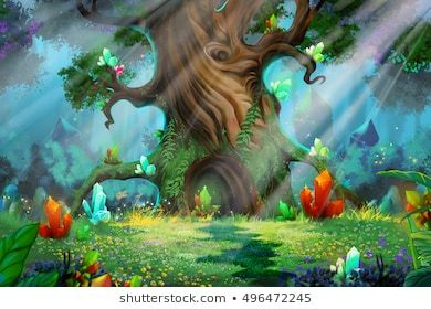 Cartoon Fairy Tale Images Stock Photos Vectors Shutterstock Background For Photography Wall Art Wallpaper Forest Fairy