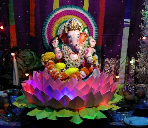 Decoration Ideas Eco Friendly Ganpati Decoration 2018