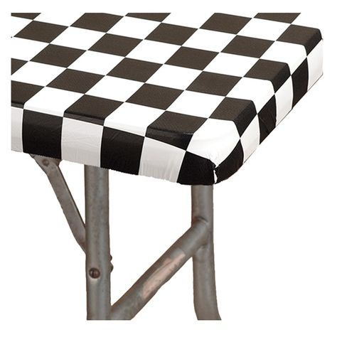 Black White Check Kwik Cover 6 Banquet Tablecover 25 Ct Bulk Table Covers Plastic Table Covers Plastic Tables