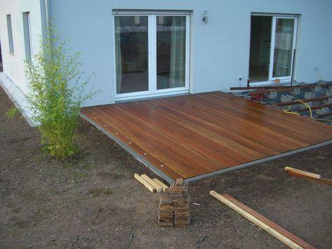 Holzterasse selber bauen Gartenideen Pinterest Holzterasse - bankirai terrasse verlegen vorteile