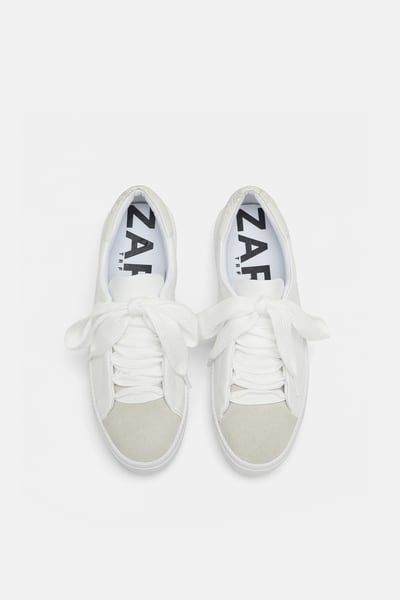Image 3 of WHITE SNEAKERS from Zara