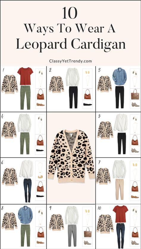 10 Ways To Wear A Leopard Cardigan - Classy Yet Trendy