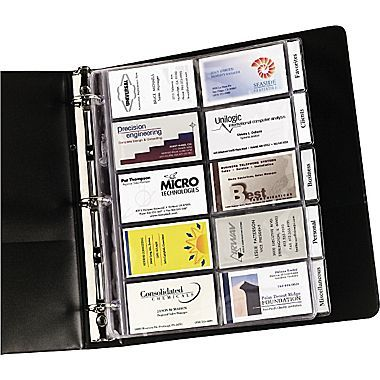 Avery Tabbed Business Card Pages Office Home Storage Pinterest Cards And Organizations