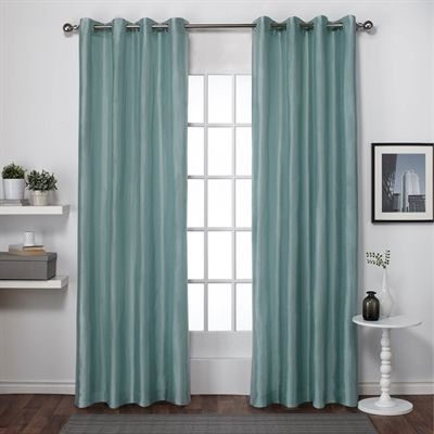 Exclusive Home Curtains Drape Eh8105 Chatra Faux Silk Grommet