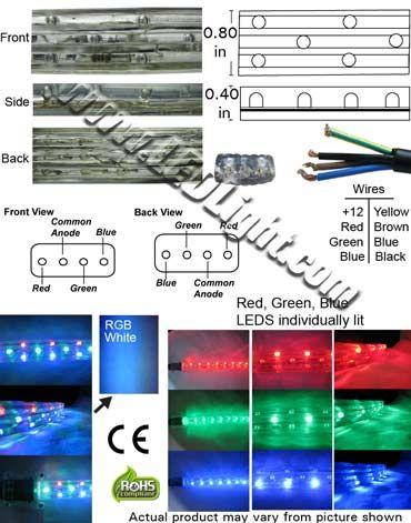 Flat Led Rgb Flexible Rope Light Common Anode 12 Volt Dc Ncnrnw Led Rope Lights Led Flexibility