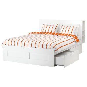 Brimnes Bettgestell Kopfteil Und Schublade Weiss Lonset Ikea Osterreich Bett Lagerung Verstellbare Betten Bettgestell