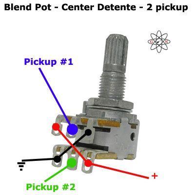 2 Pickup Blend Pot Guitar Wiring Guitar Diy Guitar Gadgets