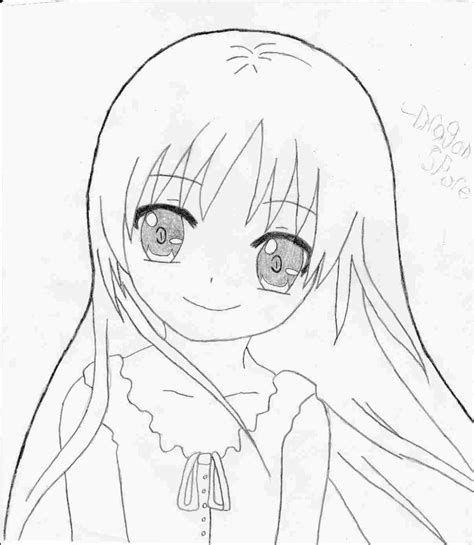 Kawaii Anime Drawings Easy In 2020 Kawaii Girl Drawings Cute Manga Girl Anime Drawings
