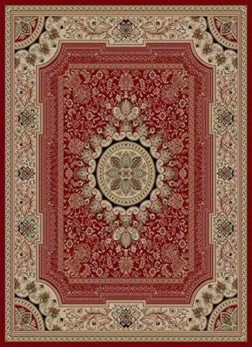 Red Red Medallion Persien 8x11 Area Rug Oriental Carpet Actual 7 10 Quot X 10 3 Quot In 2020 9x12 Area Rugs Rugs Traditional Area Rugs