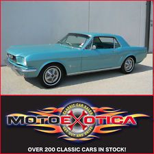 Ford : Mustang Coupe CORRECT '66 MUSTANG COUPE! TAHOE TURQUOISE/AQUA, INLINE 6, AUTOMATIC TRANS