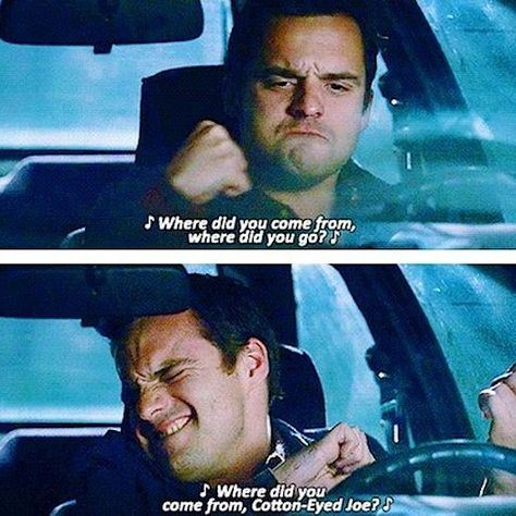 Cotton-Eyed Joe will forever remind me of a one, Nick Miller. - New Girl New Girl Memes, New Girl Funny, New Girl Quotes, Tv Quotes, Girl Humor, New Girl Tv Show, Cotton Eyed Joe, Snl News, Nick And Jess