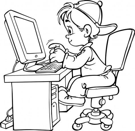 Computer Coloring Pages For Preschool You'll Love