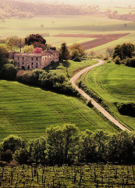 *🇮🇹 Villa bakes in the spring sun (Tuscany, Italy) by John & Tina Reid cr.🌿