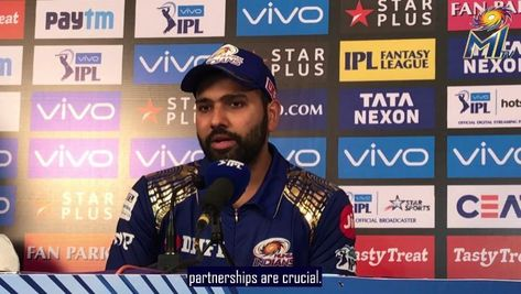 """Mumbai Indians on Instagram: """"@rohitsharma45 spoke on the rescue act he carried out in the company of Evin Lewis. #CricketMeriJaan #MIvRCB #MumbaiIndians"""""""