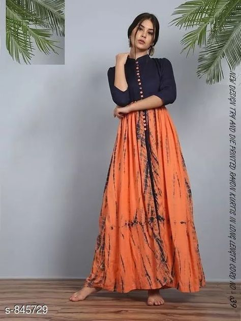 Alluring  Printed  Kurti Fabric: Kurti - Rayon  Sleeves: 3/4 Sleeves Are  Included Size: Kurti -  M - 38 in, L - 40 in, XL - 42 in, XXL - 44 in  Length: Kurti  - Up To 46 in Type: Stitched Description: It Has 1 Piece Of Kurti   Work: Kurti - Printed  For Business WhatsApp +918010630338