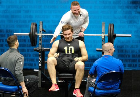 Punter Unexpectedly Steals The Show At Nfl Combine National Football League News Nfl Teams May Only Care About In 2020 Bench Press Nfl News National Football League