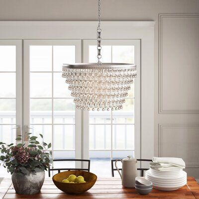 Greyleigh Almeda 6 Light Unique Tiered Chandelier With Crystal Accents Birch Lane In 2020 Geometric Chandelier Candle Style Chandelier Chandelier