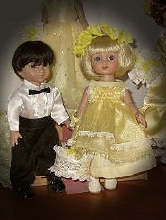 Linda's Michael and Ann Estelle: Mike and Annie are ready and patiently waiting for their part in the wedding.  Such good kids!