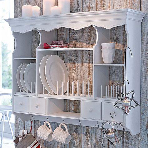 pretty kitchen storage | love the wood panels behind