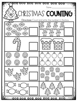 Christmas Math Worksheets For Kindergarten Christmas Math Activities Christmas Math Worksheets Christmas Math Christmas Math Activities
