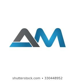 Am Company Linked Letter Logo Blue Initials Logo Design Logo Design