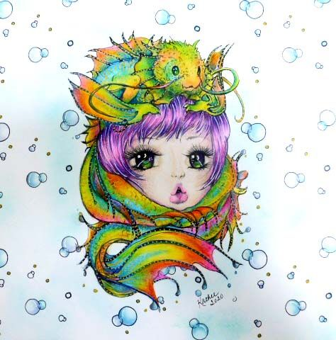 From The Color Book Pop Manga Mermaids By Camilla D Errico Mermaid Coloring Book Manga Coloring Book Coloring Book Art