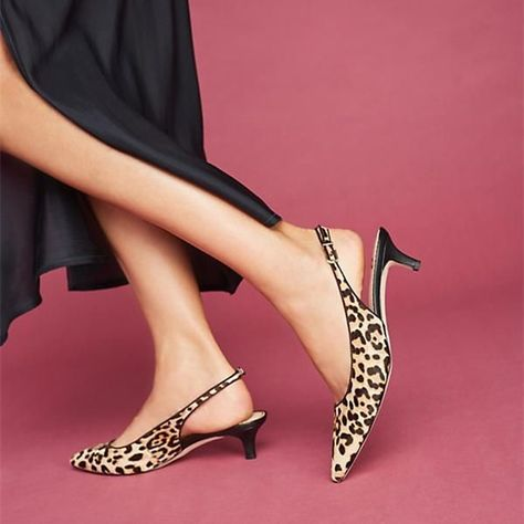 07f5307626bc Women s Style Sandal Shoes Chic Fashion Prom Dresses Shoes Brown Leopard  Print Heels Pointy Toe Kitten Heels Slingback Pumps For Work Chic Fashion  Prom ...