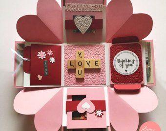 Love Explosion Box // Love Exploding Box // // Surprise | Etsy