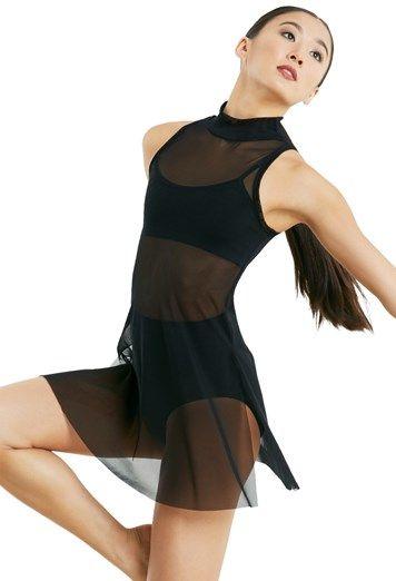 Mock Neck Mesh Tunic Overdress Balera Lyrical Dresses Dance Wear Solutions Overdressed