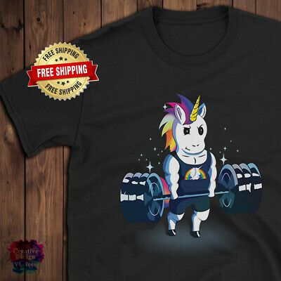 Weightlifting Unicorn Fitness Muscl Lovers Birthday Gift for Men, Women, T Shirt