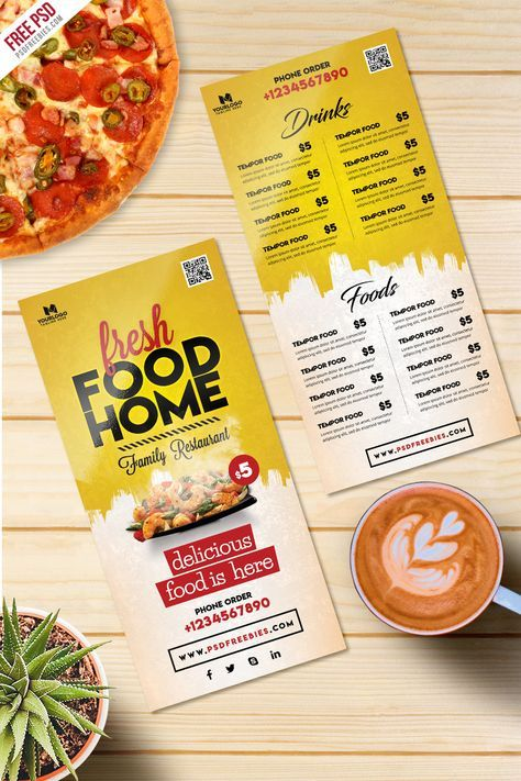 Food Menu Card Psd Template Freebie Psdfreebies Com Food Menu Food Menu Design Food Menu Template