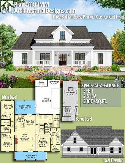 Split Level Remodel Open Concept House Plans 23 Best Ideas Farmhouse Plans House Plans Dream House Plans