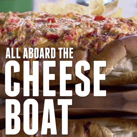 Trisha's two cheeses and corned beef dip comes in its own bread boat... What can she not do?!