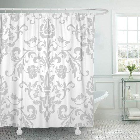 Home Floral Shower Curtains Curtains Gray Shower Curtains