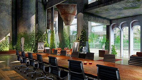 Beautiful Renders Architecture Showroom Inspiration Industrial