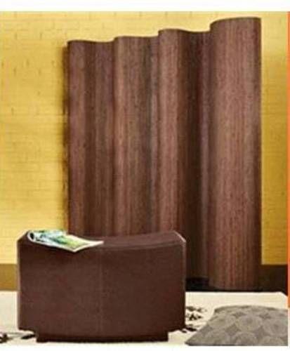 Bamboo Flexible Screen Room Divider Wavy Unique Roll Up 3 Color