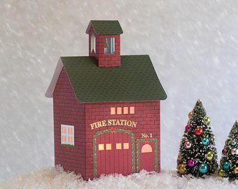 Keepsake Christmas Villages 2020 Christmas Village Pop up Foldable Keepsake Houses Christmas | Etsy