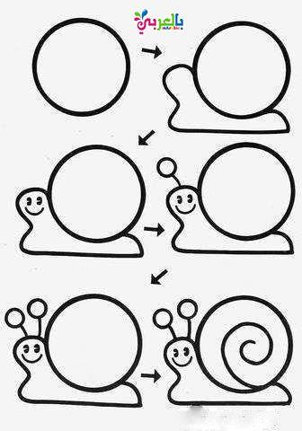 تعليم رسم الحيوانات خطوة بخطوة للاطفال Art Drawings For Kids Easy Drawings Cute Easy Drawings