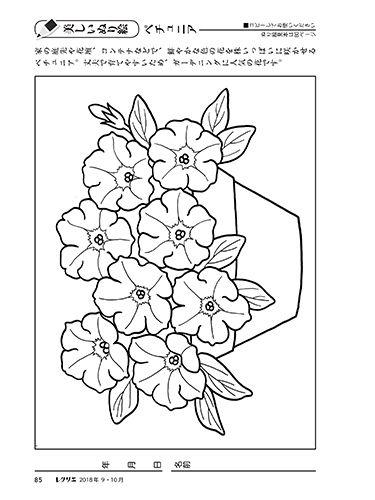 ペチュニア 鮮やかな色ペチュニア花壇