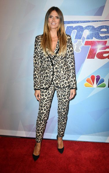 Heidi Klum attends the premiere of NBC's 'America's Got Talent' Season 12.