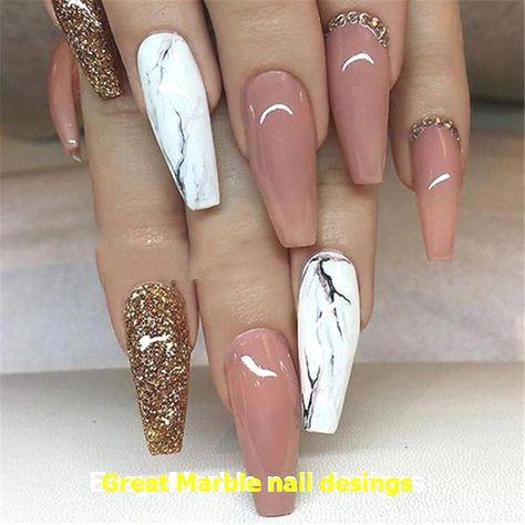 25 Marble Nail Design With Water Nail Polish 1 In 2020 Cute Acrylic Nails Nail Designs Coffin Nails Designs