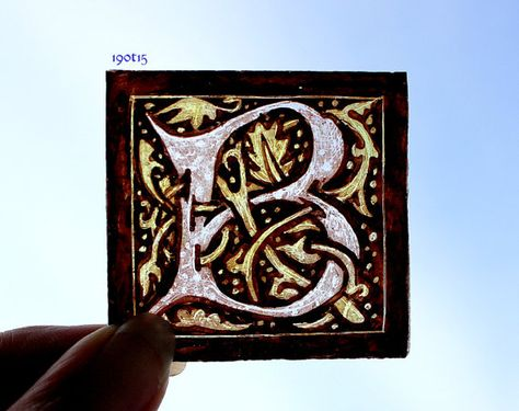 Stained Glass Window Fragment Alphabet B hand by StainedGlassical, $10.00