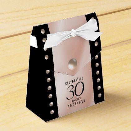 Elegant 30th Pearl Wedding Anniversary Celebration Favor Box
