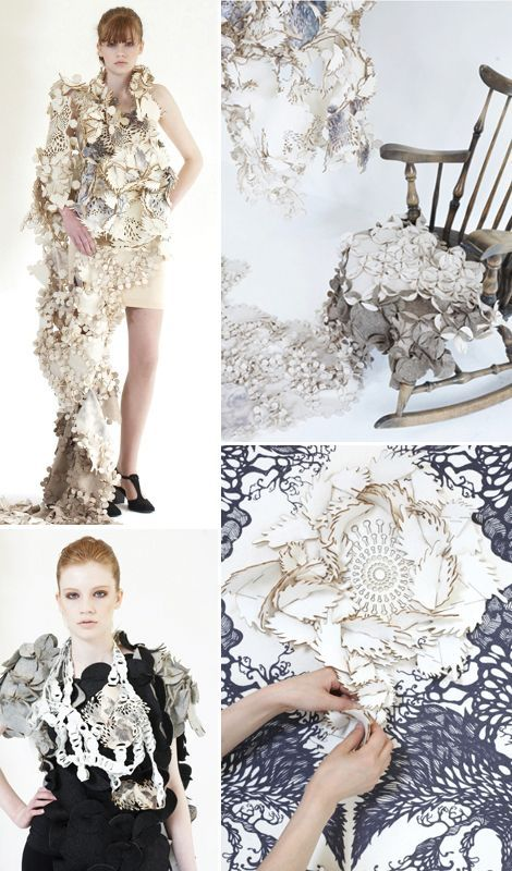 a nomadic wonderland Intricate laser cut textiles – innovative surface design;