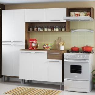 Cozinha Completa Compacta Madesa Emilly Com Armario E Balcao Em