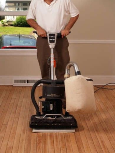Sanding The Floor How To Refinish Hardwood Floors Project