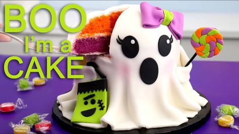 Not So Scary Ghost Cake For Halloween Youtube Taart Decoratie